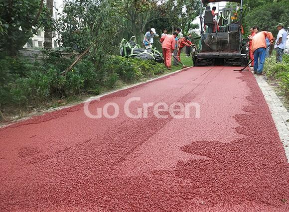 مشروع الأسفلت الأحمر اللون في كونشان