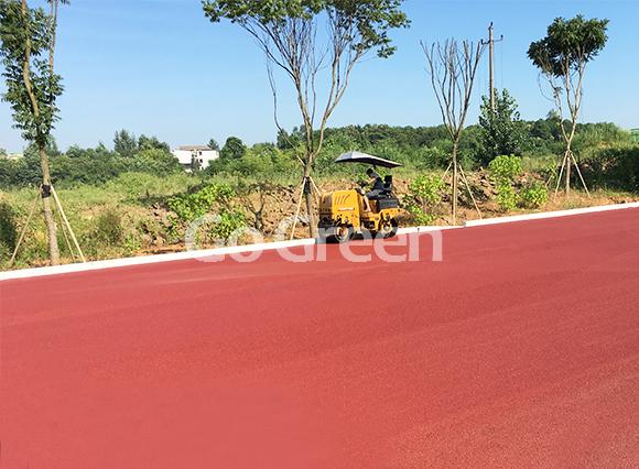 مشروع الأسفلت الأحمر الساخن في مدينة هوانغشي