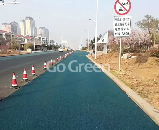 اللافت للنظر الأزرق في شارع مدينة تشينغداو