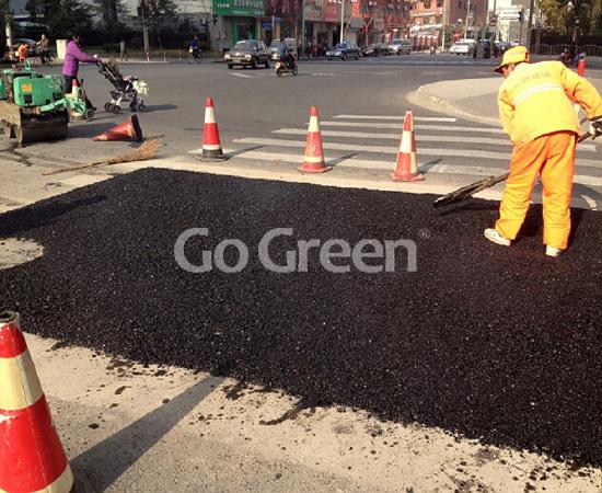 الذهاب الأخضر البارد الأسفلت لإصلاح الطريق الفوري