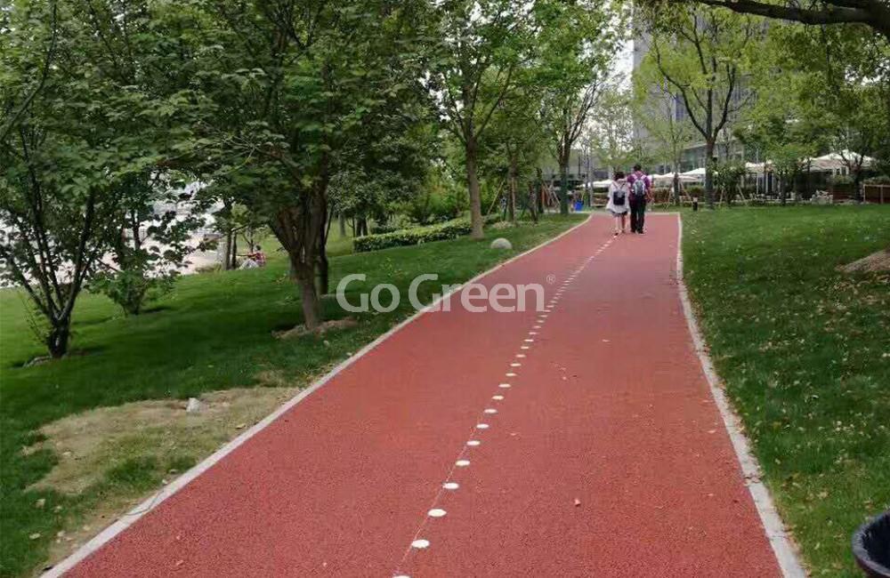 تم الانتهاء من مشروع رصيف الأسفلت الأحمر المسامي في Bund بنجاح