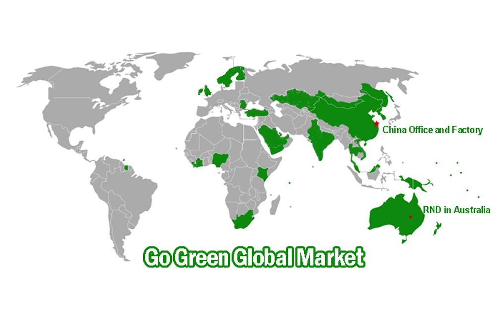 الذهاب الأخضر توسيع السوق العالمية